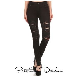 Prestige Denim destroyed skinny jeans 5